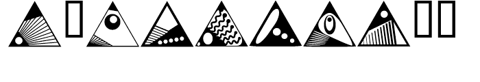 Anns Deco Glyphs Triangles Font OTHER CHARS