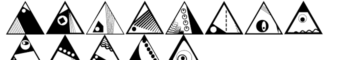 Anns Deco Glyphs Triangles Font UPPERCASE