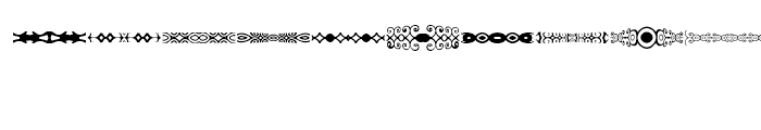 Anns DecoBands Horizontal Font OTHER CHARS