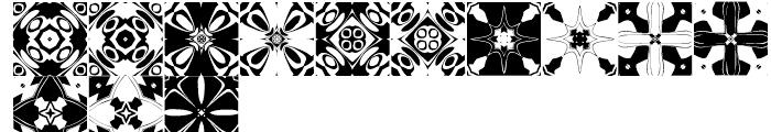 Anns Kaleidoblocks Four Font LOWERCASE