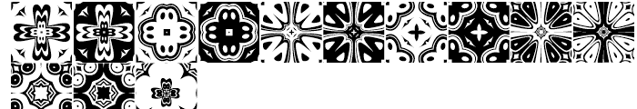 Anns Kaleidoblocks Three Font UPPERCASE