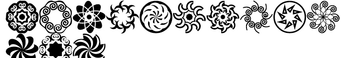 Anns Roundabouts OctOs Font UPPERCASE