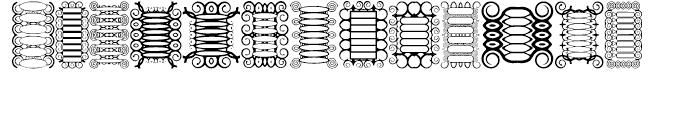 Anns Scrollbars Regular Font UPPERCASE