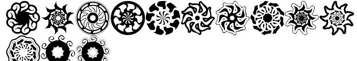 Anns SpEYErals Revolution Nine Font LOWERCASE
