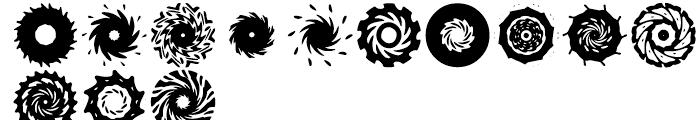 Anns Spinwheels Four Font UPPERCASE