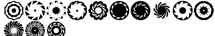 Anns Spinwheels Four Font LOWERCASE
