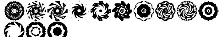 Anns Spinwheels Three Font UPPERCASE