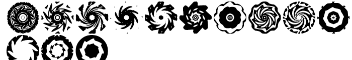 Anns Spinwheels Three Font LOWERCASE