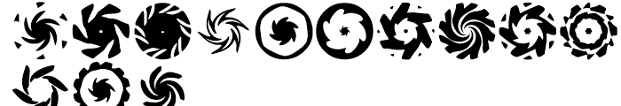 Anns Spinwheels Two Font UPPERCASE