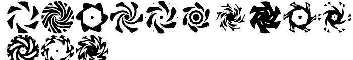 Anns Spinwheels Two Font LOWERCASE