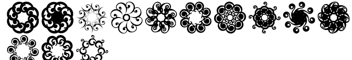 Anns Spirals Octopies Font UPPERCASE