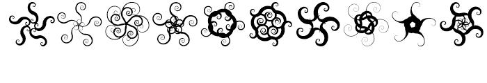 Anns Spirals Starfishflowers Font OTHER CHARS