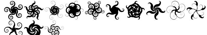 Anns Spirals Starfishflowers Font UPPERCASE