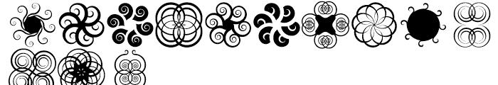 Anns Spirals Tendrils Font UPPERCASE