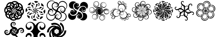 Anns Spirals Tendrils Font LOWERCASE