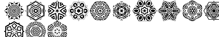Anns Stellars Three Font LOWERCASE