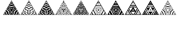 Anns Triangles Five Font OTHER CHARS