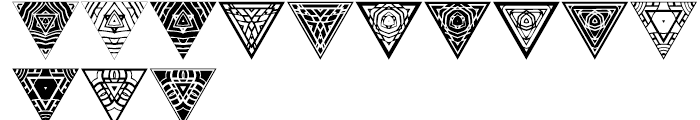 Anns Triangles Five Font UPPERCASE