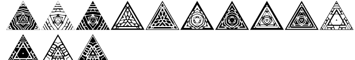 Anns Triangles Five Font LOWERCASE