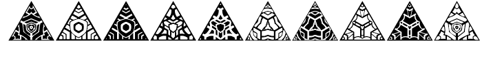 Anns Triangles Four Font OTHER CHARS