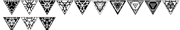 Anns Triangles Four Font UPPERCASE
