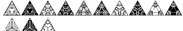 Anns Triangles Four Font LOWERCASE