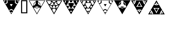 Anns Triangles One Font OTHER CHARS