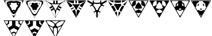Anns Triangles One Font UPPERCASE