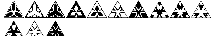 Anns Triangles One Font LOWERCASE