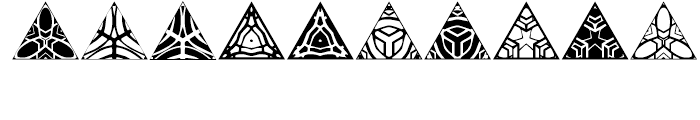 Anns Triangles Three Font OTHER CHARS