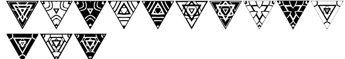 Anns Triangles Three Font UPPERCASE