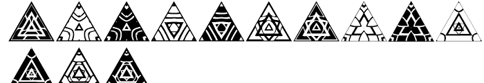 Anns Triangles Three Font LOWERCASE