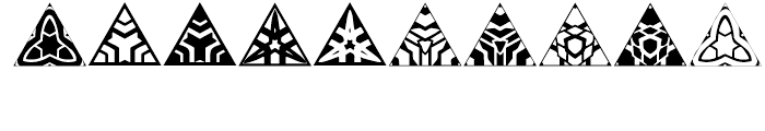 Anns Triangles Two Font OTHER CHARS