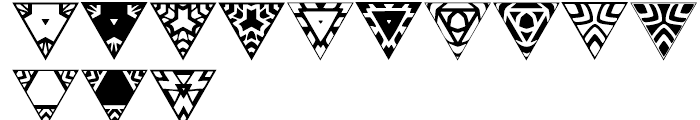 Anns Triangles Two Font UPPERCASE