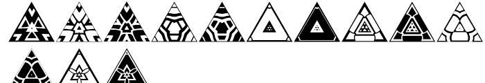 Anns Triangles Two Font LOWERCASE