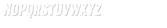 Anodyne Shadow Italic Font UPPERCASE