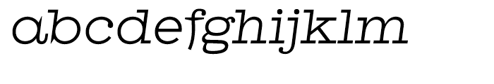 Antique Central Italic Font LOWERCASE