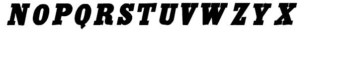 Antique Extra Condensed Italic Font UPPERCASE