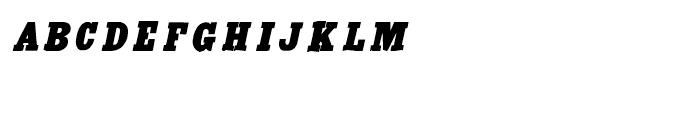 Antique Extra Condensed Italic Font LOWERCASE