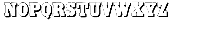 Antique Extra Condensed Shadow Font UPPERCASE