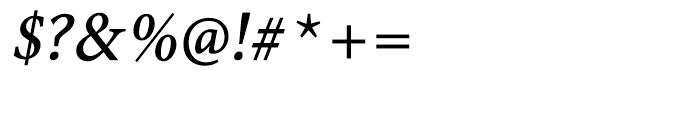 Antium Semi Condensed Bold Italic Font OTHER CHARS