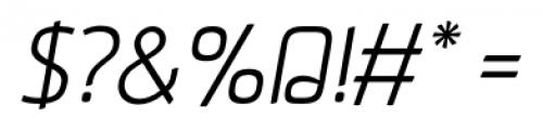 Aneba Light Oblique Font OTHER CHARS