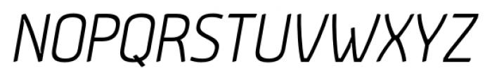 Aneba Light Oblique Font UPPERCASE