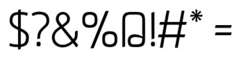Aneba Light Font OTHER CHARS