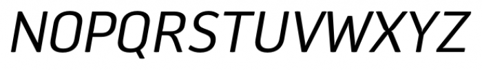 Aneba Neue Italic Font UPPERCASE