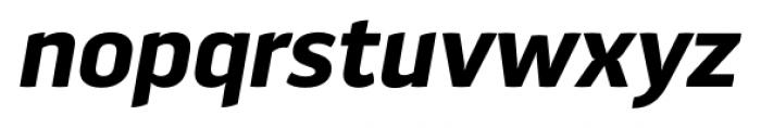 Aneba Neue Semi Bold Italic Font LOWERCASE