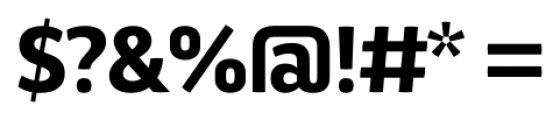 Aneba Neue Semi Bold Font OTHER CHARS