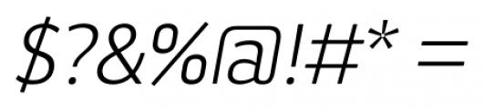 Aneba Neue Ultra Light Italic Font OTHER CHARS
