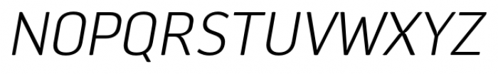 Aneba Neue Ultra Light Italic Font UPPERCASE