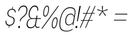 Angostura ExtraLight Italic Font OTHER CHARS
